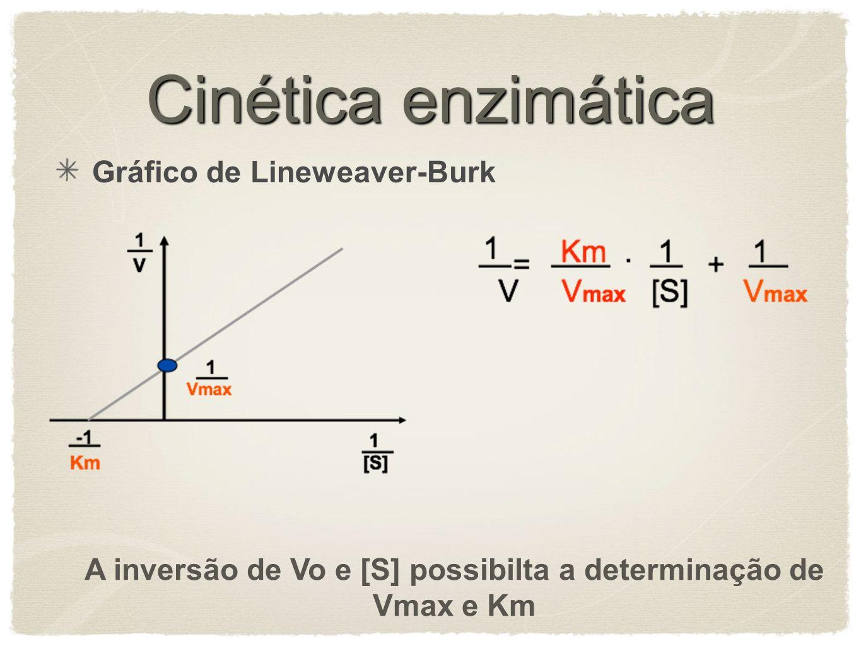 A inversão de Vo e [S] possibilta a determinação de Vmax e Km